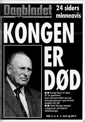 1991 - Kong Olav V dør