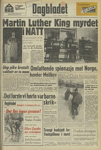 1968 – Attentatet mot Martin Luther King